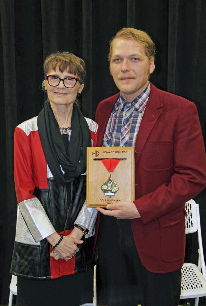 Dr. Cheryl T. Sparks, President and Collin Hansen, 2018-2019 Presidential Outstanding Student Award Winner