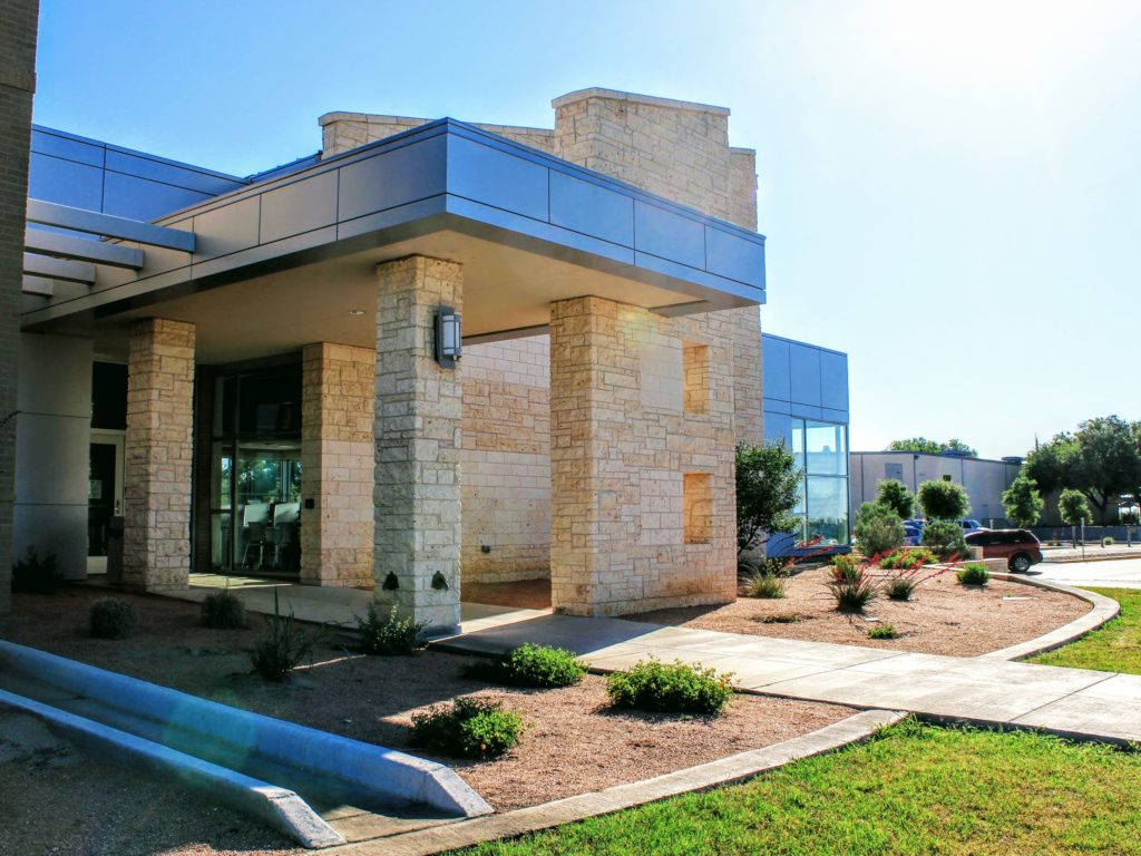 Student Services building entrance on San Angelo campus