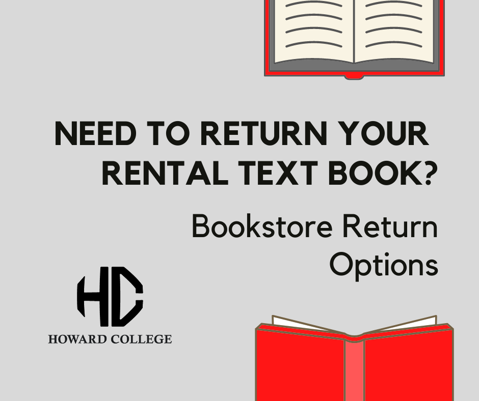books on grey background with text bookstore return options