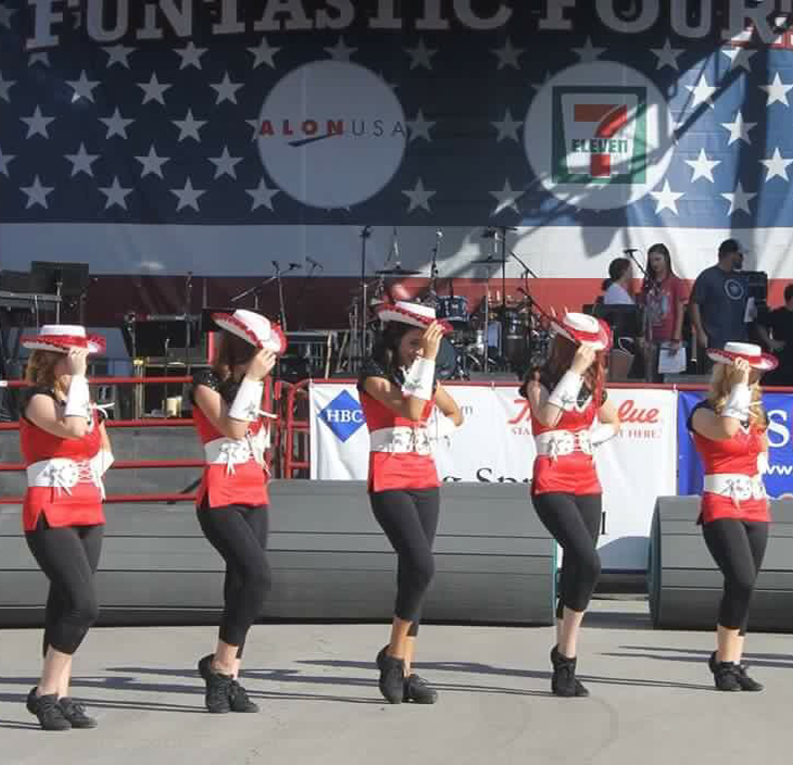 5 dancers on stage